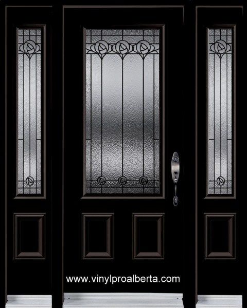 Steel Entry Door 2 Sidelights 3 4 Glassnottingham 22x48 Esed2s
