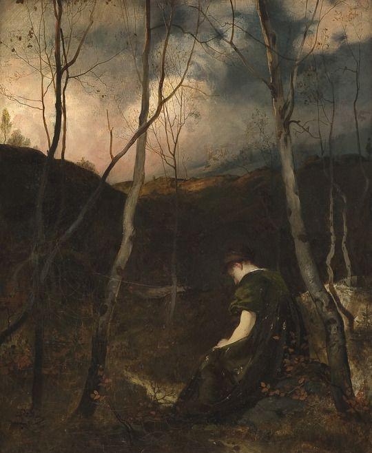 Domitor Invictus  Hjalmar Eilif Emanuel Peterssen - Autumn Evening