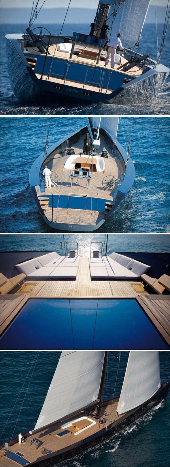 Entre voilier et yacht, toute la beauté du design italien Wally, le  constructeur italien de bateaux internationalement reconnu pour ses projets  grand luxe,