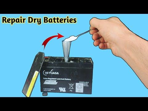 how to rebuild a car battery when cell is dead