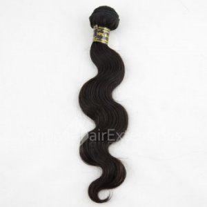 Brazilian Virgin Hair Natural Black (#1B) Body Wavy 100g