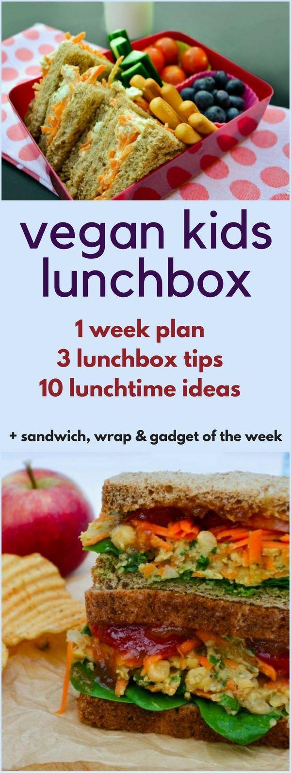 10 Vegan Lunchbox Ideas For Kids Vegan Vegan Recipes