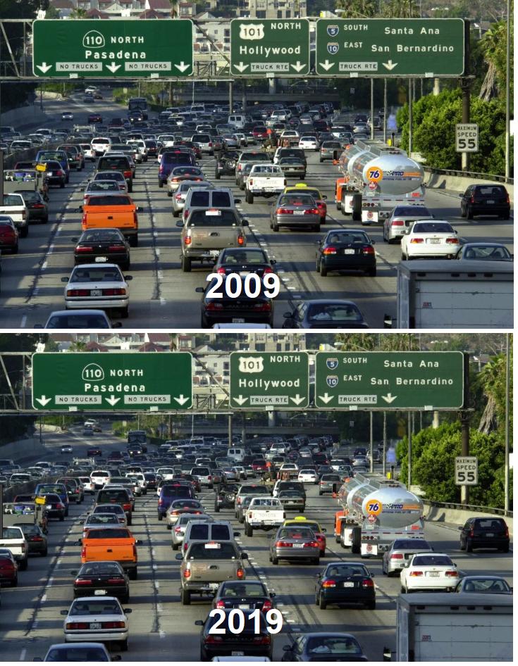 Los Angeles Traffic 10 Year Challenge Los Angeles Traffic 10 Years