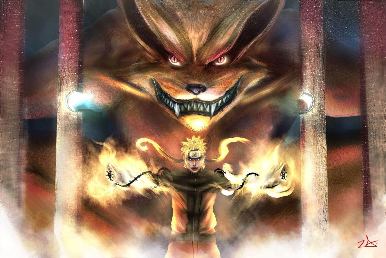 Chakra Creature Kyuubi Nine Tailed Fox Anime Naruto Hd Art Demon Creature Fangs Ears Chakra Fow 720p Wa Naruto Wallpaper Anime Images Anime Wallpaper