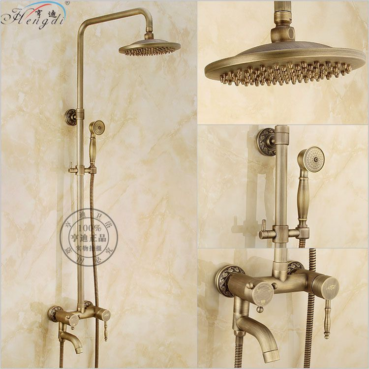 2016 Hot Sale New Wall Mounted Brass Chuveiro Led Shower Head Full ...