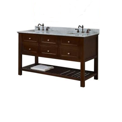 Direct Vanity Sink 60d6 Eswc Mission Spa Double Vanity Brown 60 In