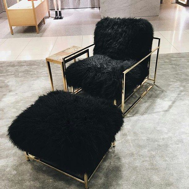 Einrichtungsideen mit Fell: kuschelige Möbel für kalte ...