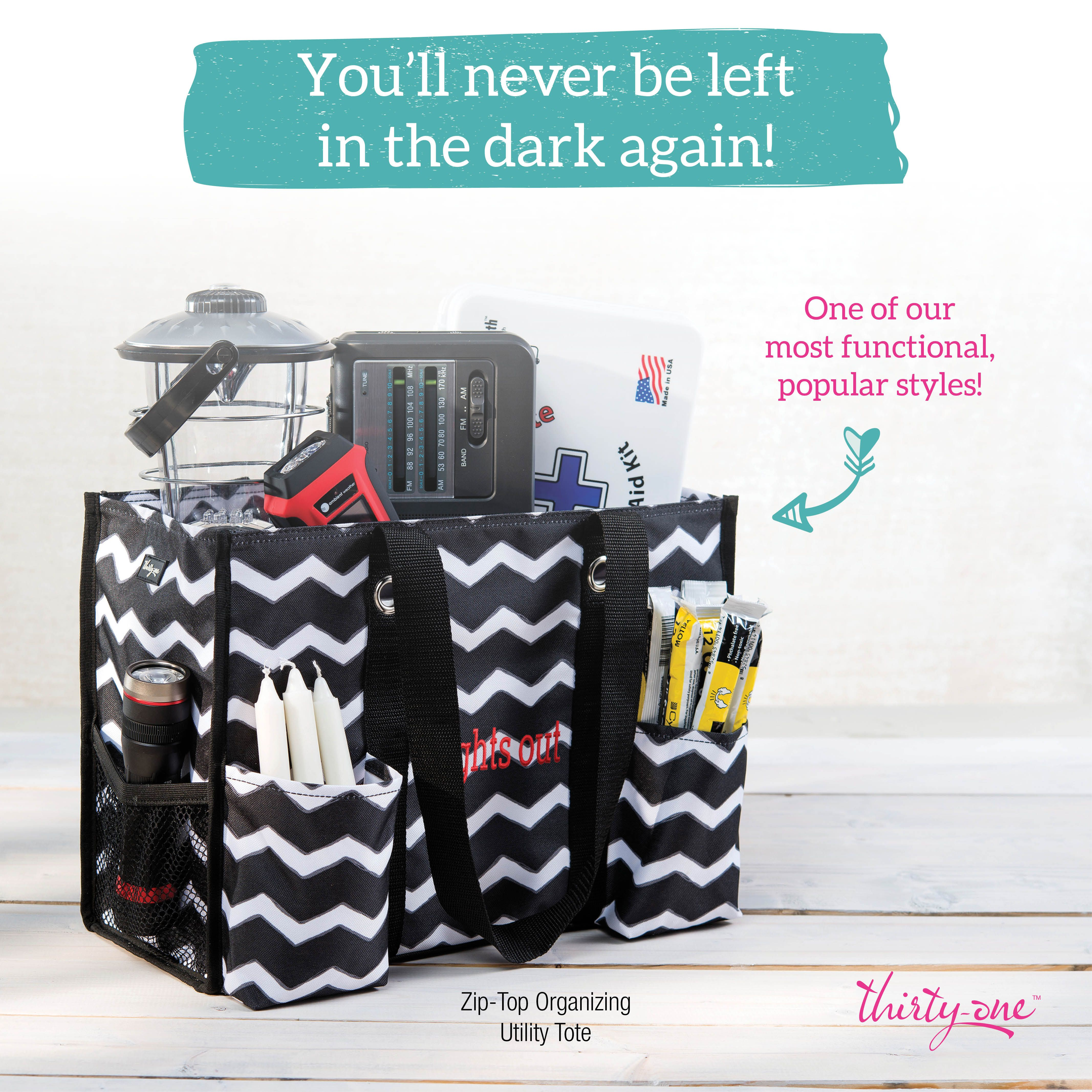 Heres A Great Way To Use Our Zip Top Organizing Utility Tote We