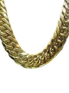 006b998125214 Solid 14k Yellow Gold Finsh Stainless Steel 21mm Thick Miami Cuban ...