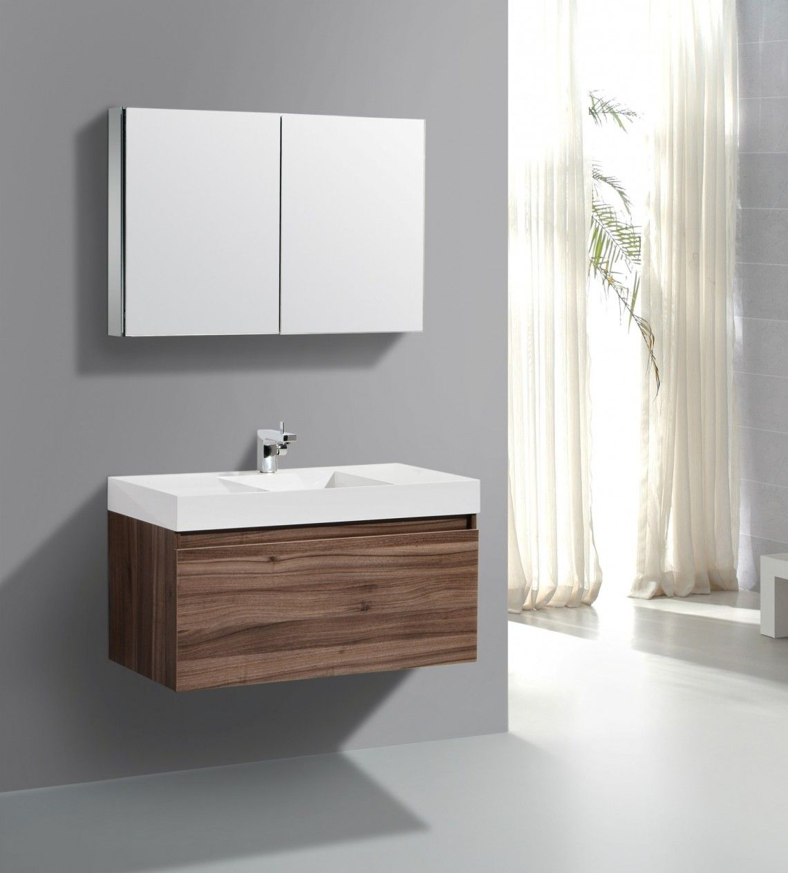 Furniture Enchantg Wall Mounted Bathroom Mirror with Modern