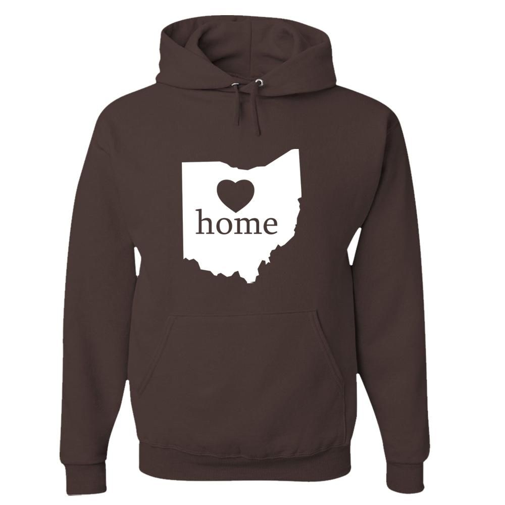 Ohio Home State Pride Hoodie – SMALL / CHOCOLATE