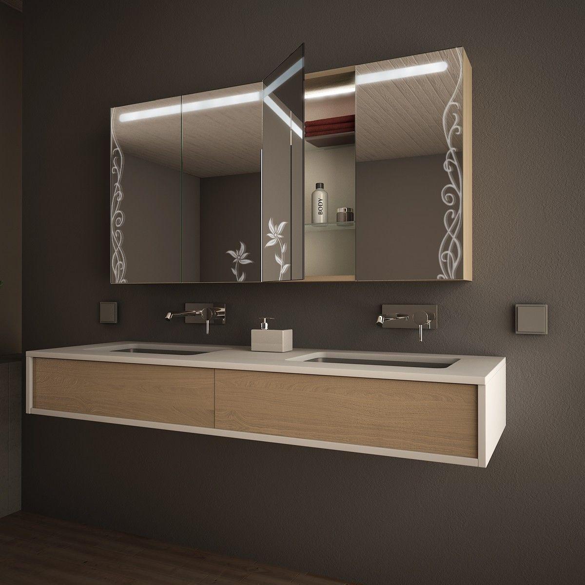 Spiegelschrank Led Mehrturig Hana Badezimmer Spiegelschrank Spiegelschrank Bad Spiegelschrank