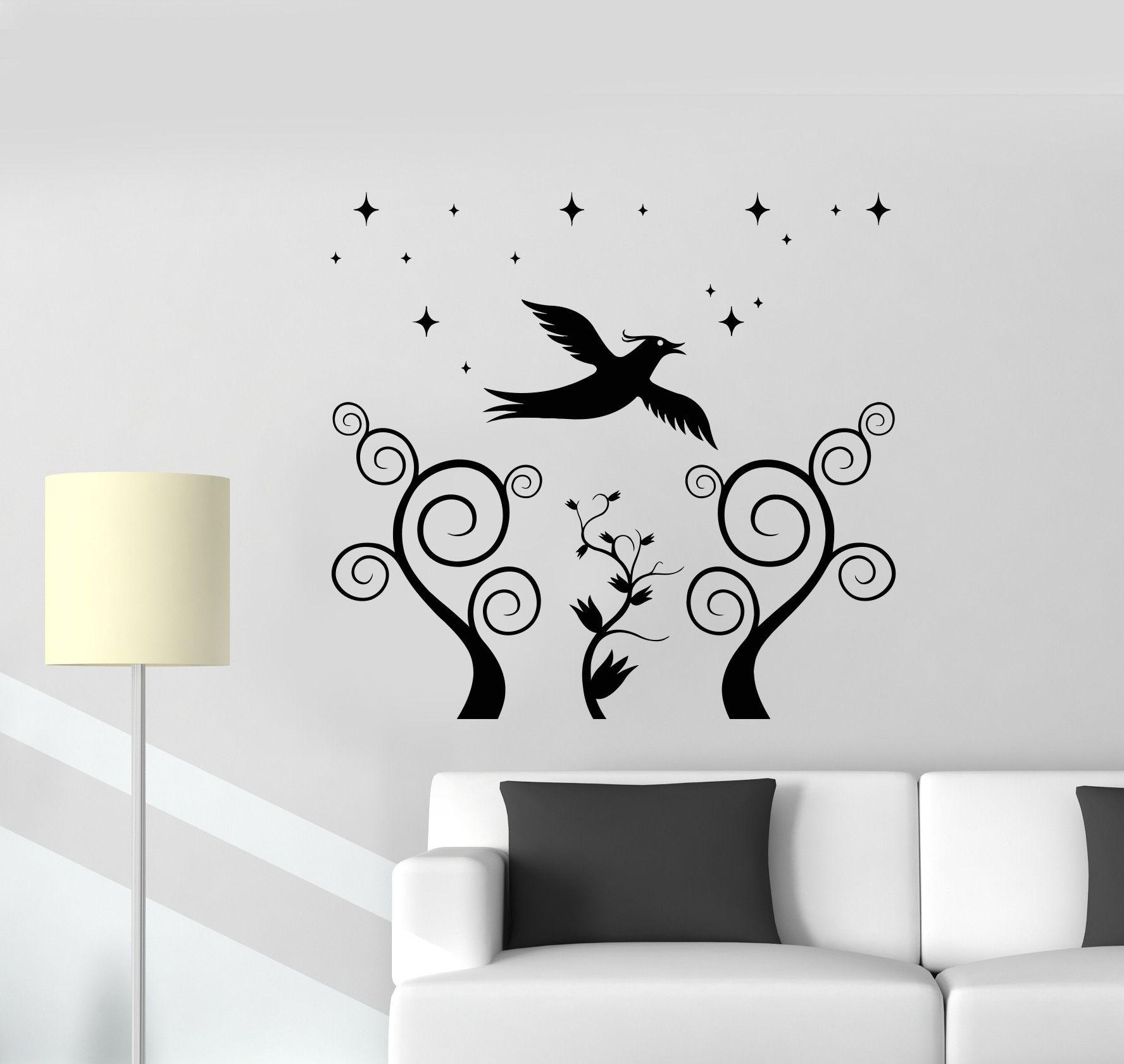 Vinyl Decal Bird Floral Decor Nursery Kids Room Wall Sticker Mural (ig2781)