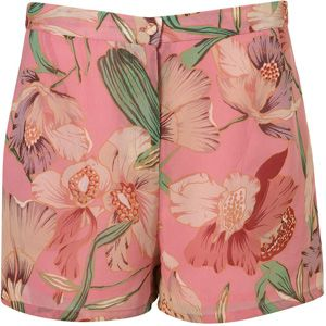 6. Topshop Pink Lily Print Shorts