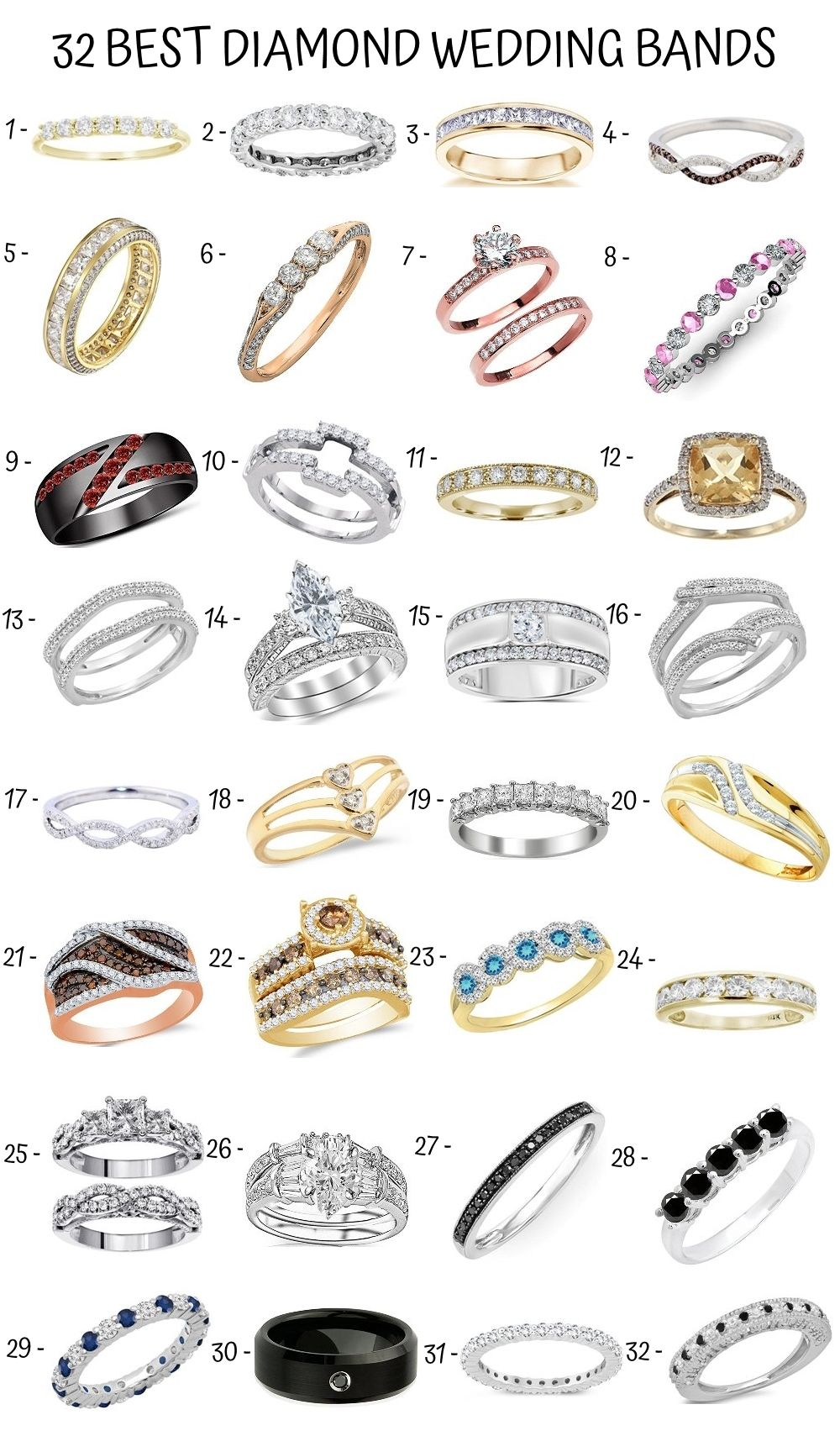 18+ Types of wedding rings cuts information