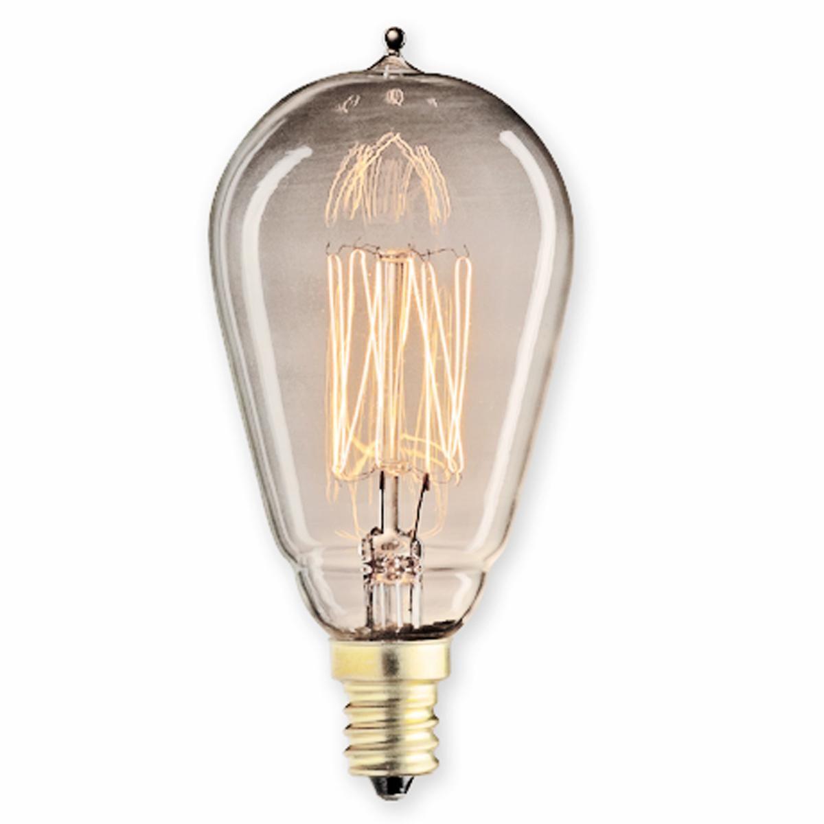 25 Watt Vintage Edison Bulb Candle Base Thread Vintage Edison Bulbs Candle Base Antique Light Bulbs