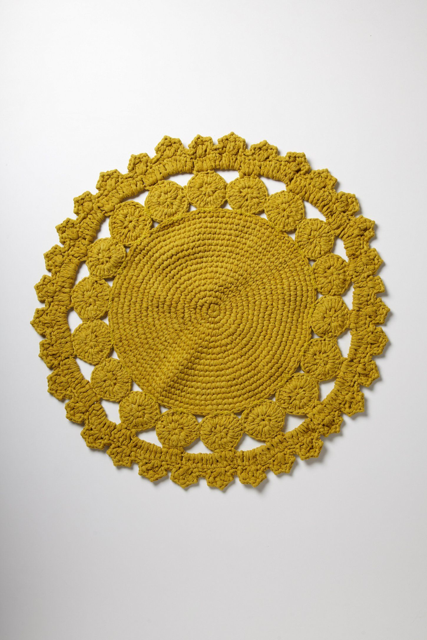 Alfombras De Ganchillo De Lana Crocheted Azimuth Bathmat Anthropologie Grannys