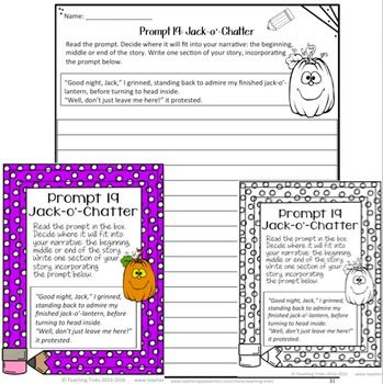 FREE Halloween Writing Prompts! What happens when your jack-o - halloween writing ideas