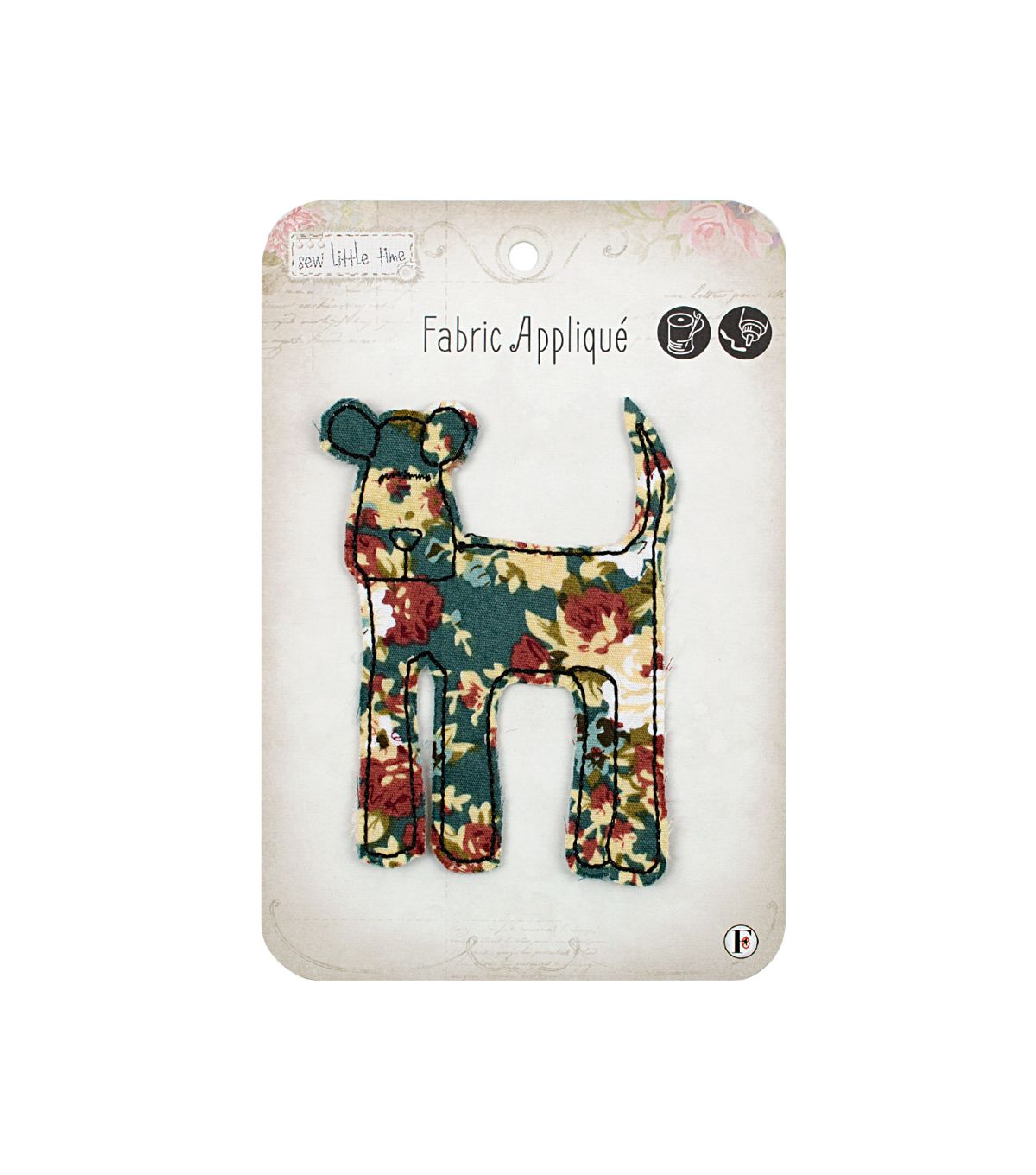 Sew Little Time Dog applique available at Joann's Craft
