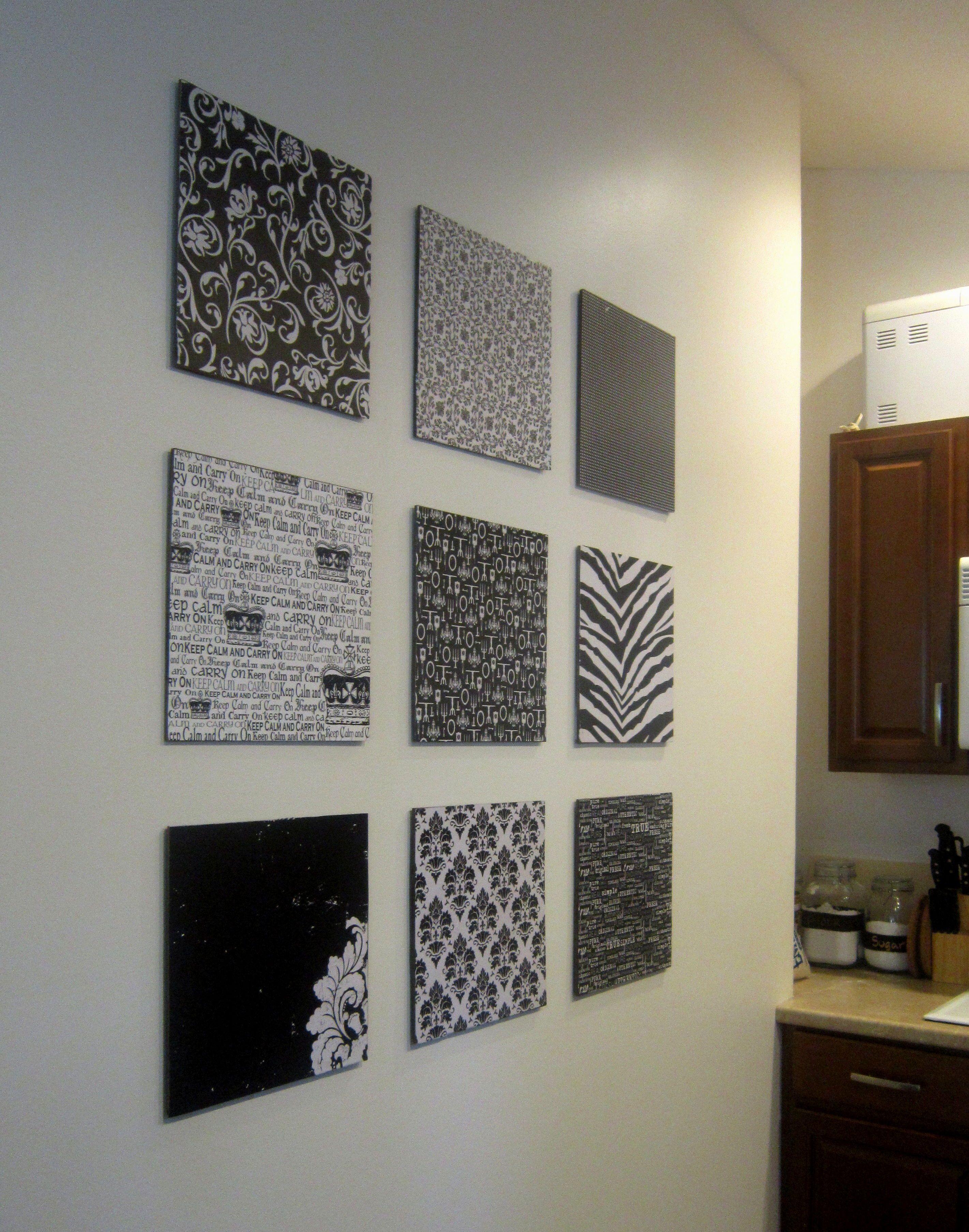 Good DIY Scrapbook Paper Wall Art | MIXED METHOD| MIXED METHOD For The Big Empty  Wall