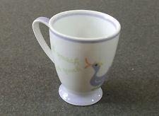 Starbucks 2007 Spring Easter 7oz Purple White Duck Quack Mini Coffee Tea Mug Cup