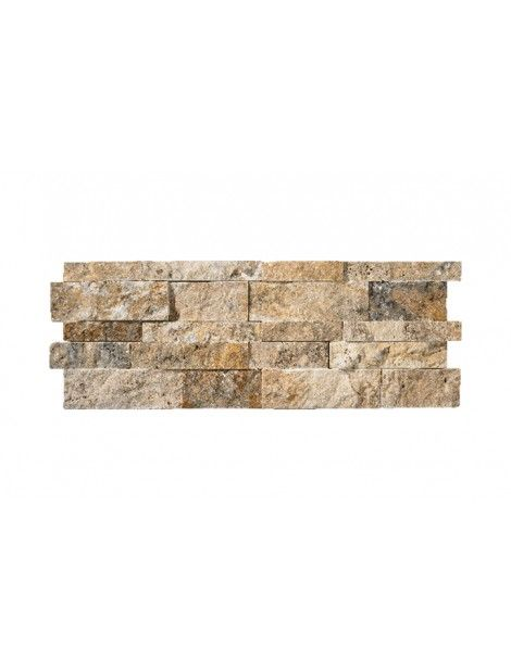 7 in. x 20 in. 3D Stack Splitface Scabos Travertine Ledger Panels ...