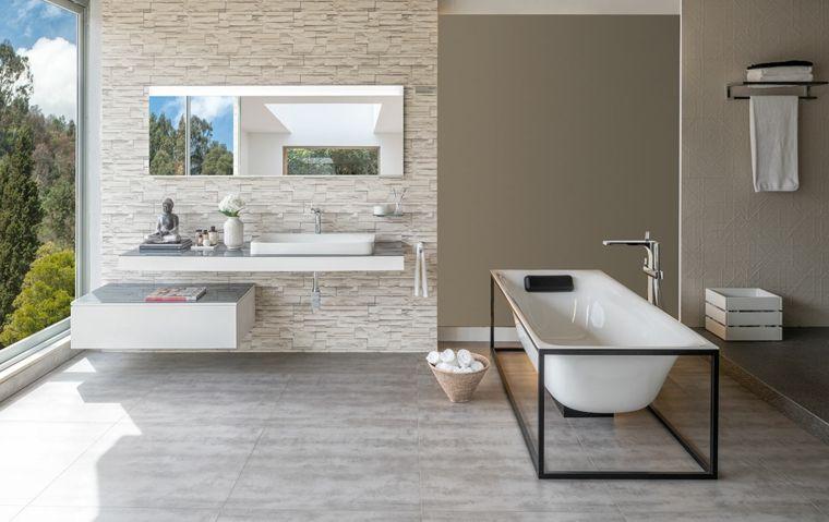 Vasche Da Bagno Rettangolari Moderne : Vasca da bagno in costruzione di legno mobile bianco laccato