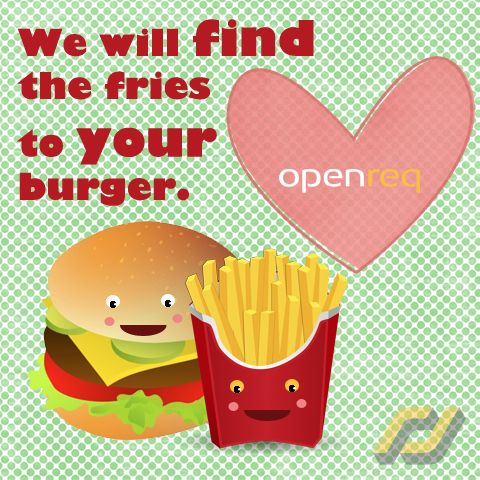 Openreq will find the fries to your burger. Apply for a job today at Openreq.com!