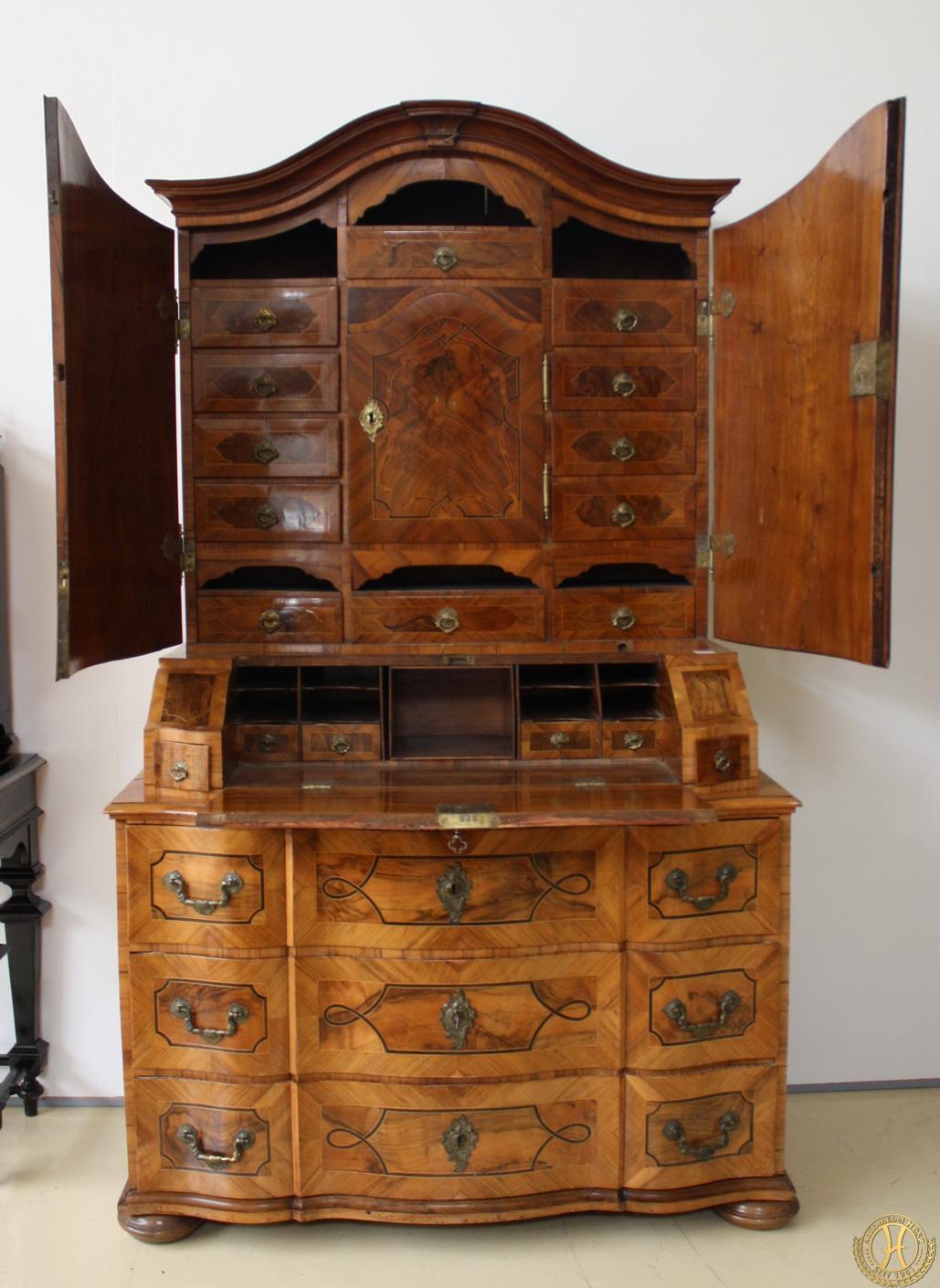Barocker Schreibschrank 18. Jhdt. Antik Möbel Hesz