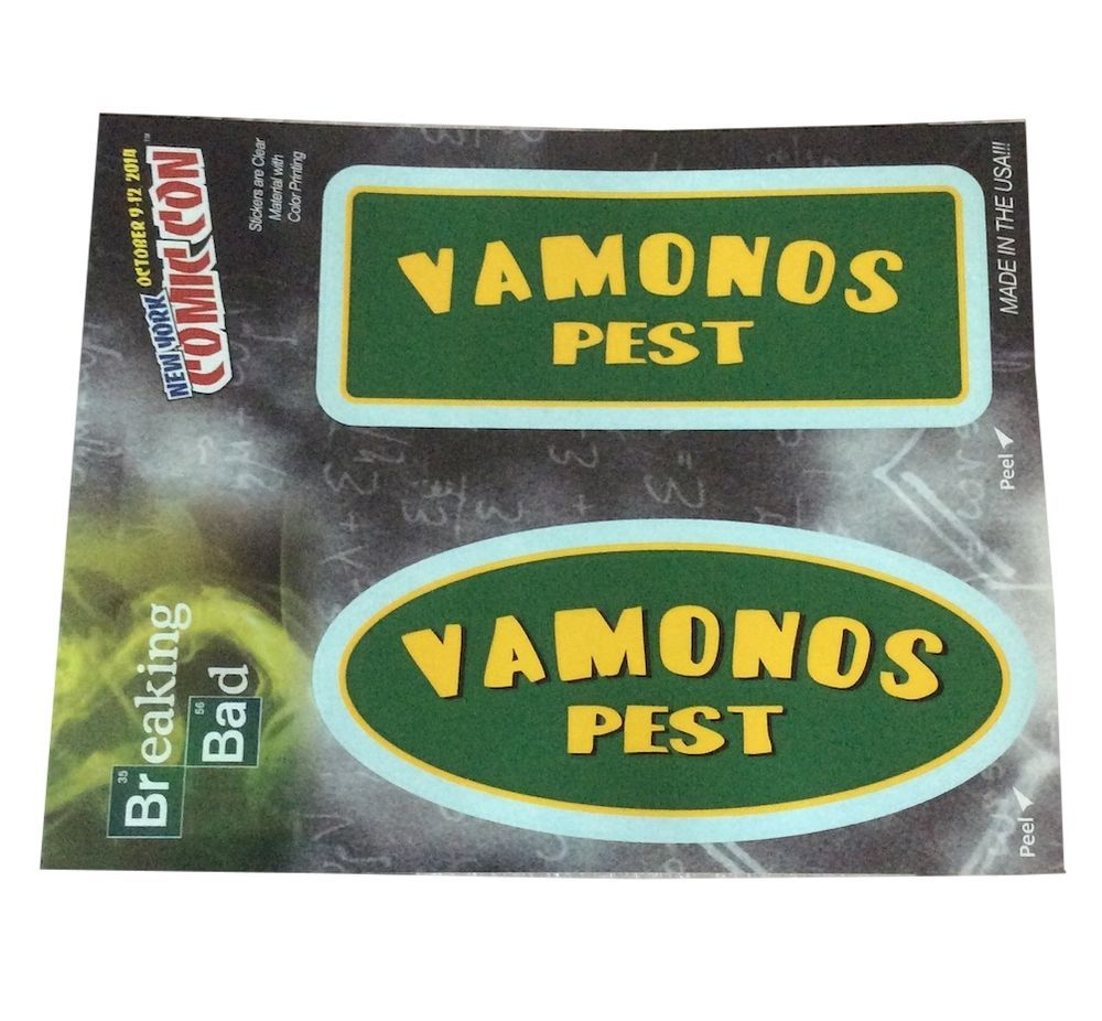 Breaking Bad Vamonos Pest Comic Con Exclusive 2 Window Sticker Car