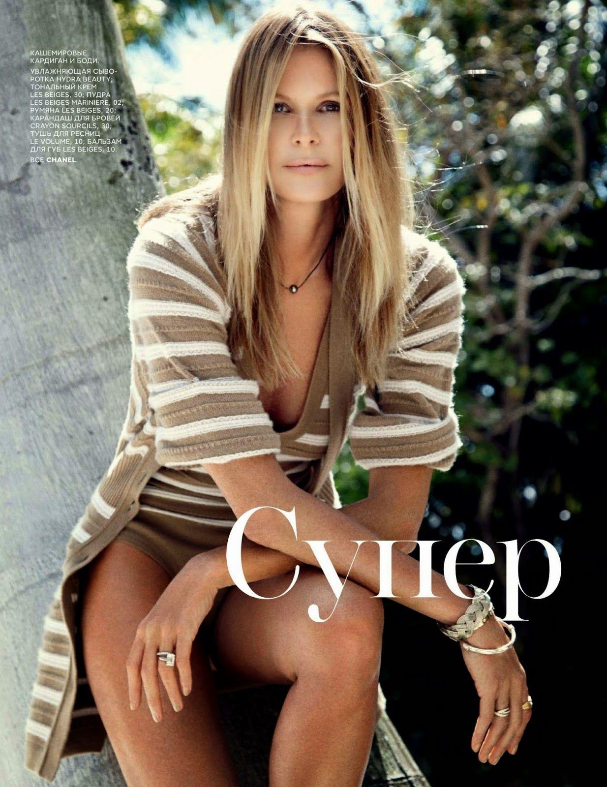 """""""Super Elle"""" Elle Macpherson for Vogue Russia June 2015"""