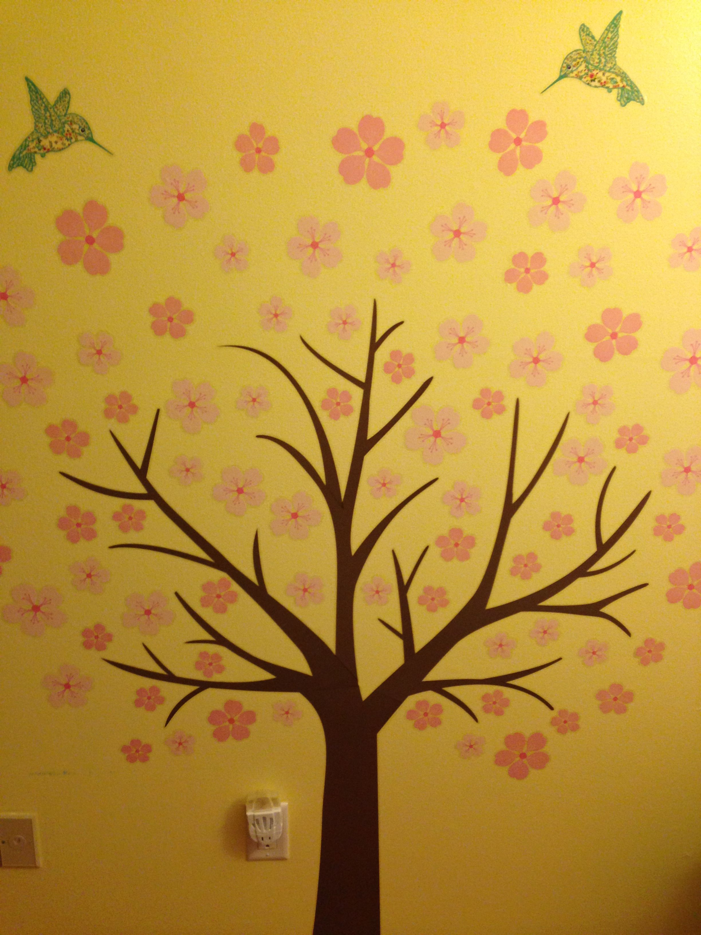 Isabella S Cherry Blossom Tree In Her Room Cherry Blossom Tree Blossom Trees Home Decor Decals