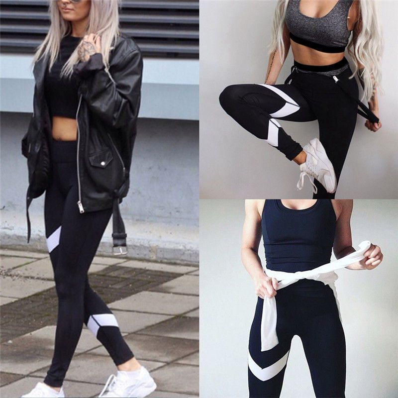 1c29b700836a8 (Promotion price $6.01) Premium Sport Jogging Yoga Running Pants Gifts Women  Cropped Leggings Fitness Lounge Athletic Pants Leggins deportiva mujer gym