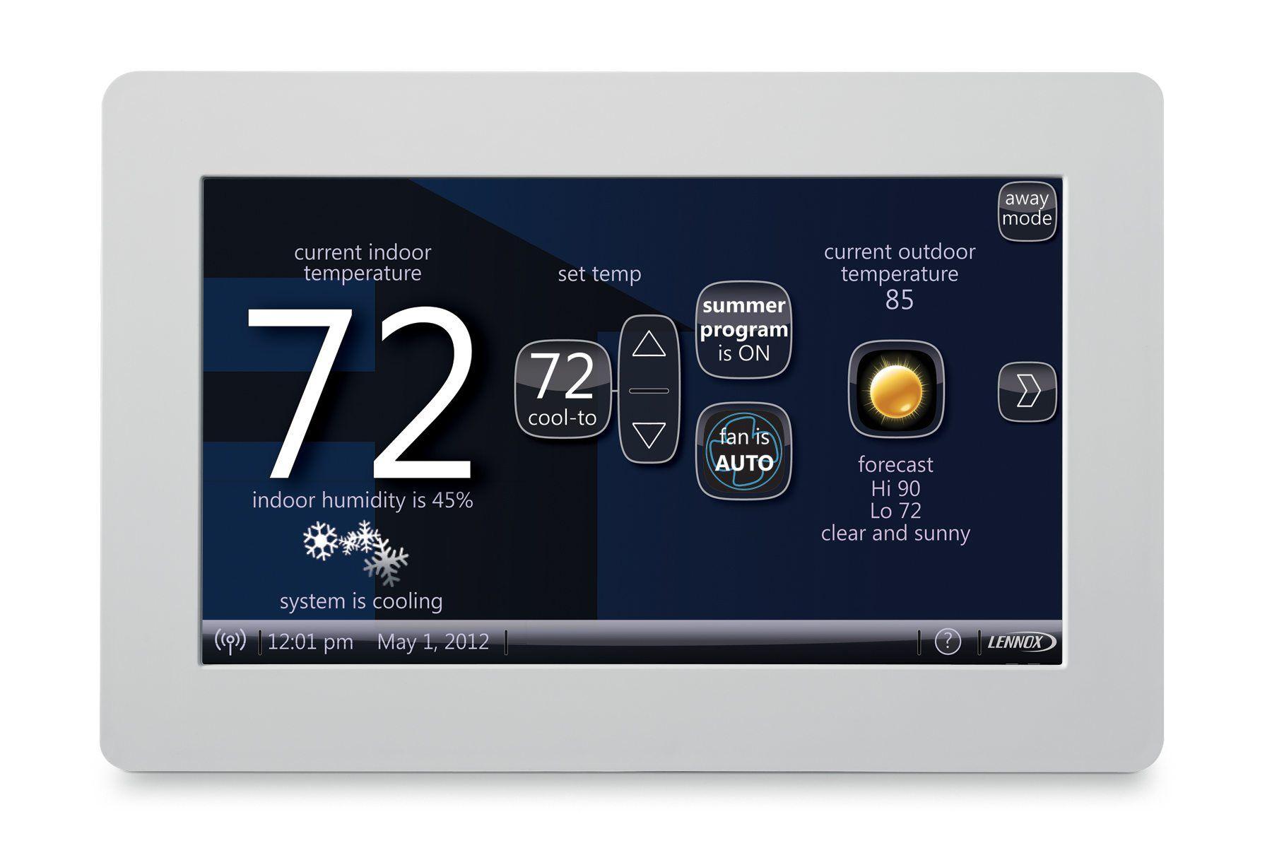 Lennox iSense Thermostat Thermostat installation, Home