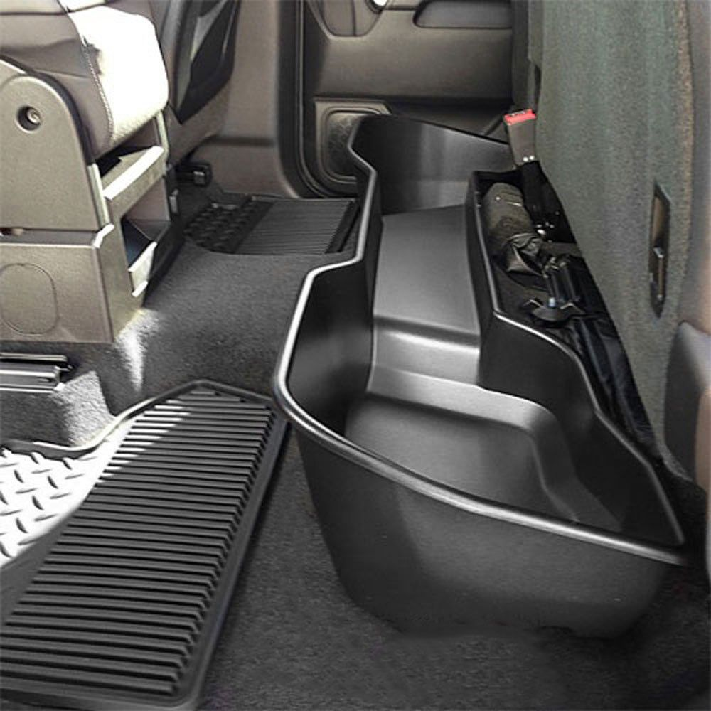 General motors under seat storage organizer black double cab chevrolet silverado 2007 2017