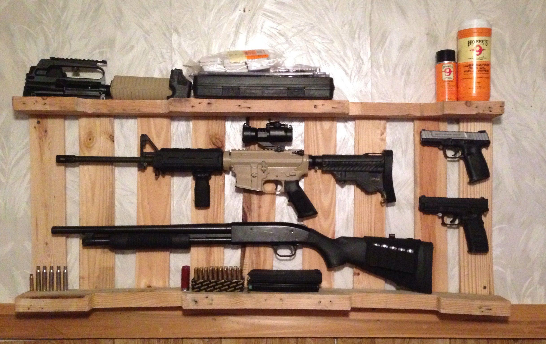 Diy gun rack out of wooden pallet home decor pinterest diy gun rack out of wooden pallet jeuxipadfo Gallery
