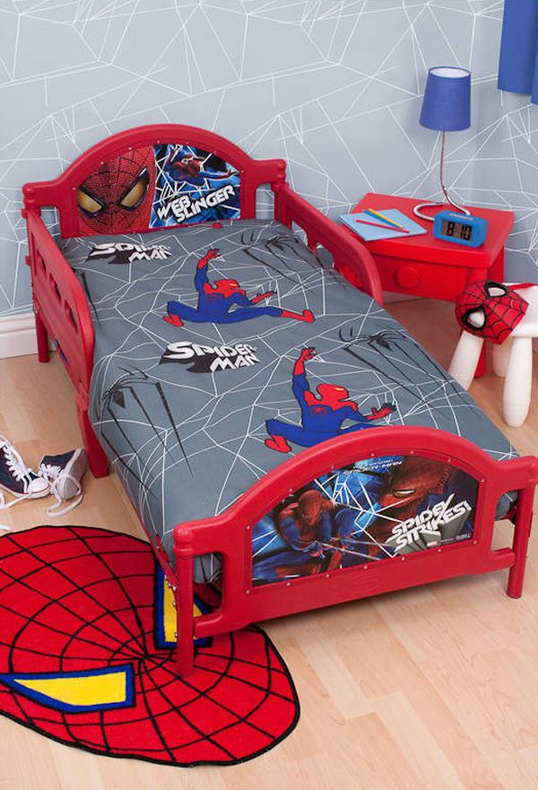 15 Kids Bedroom Design With Spiderman Themes Spiderman Bedroom Spiderman Room Superhero Bedroom