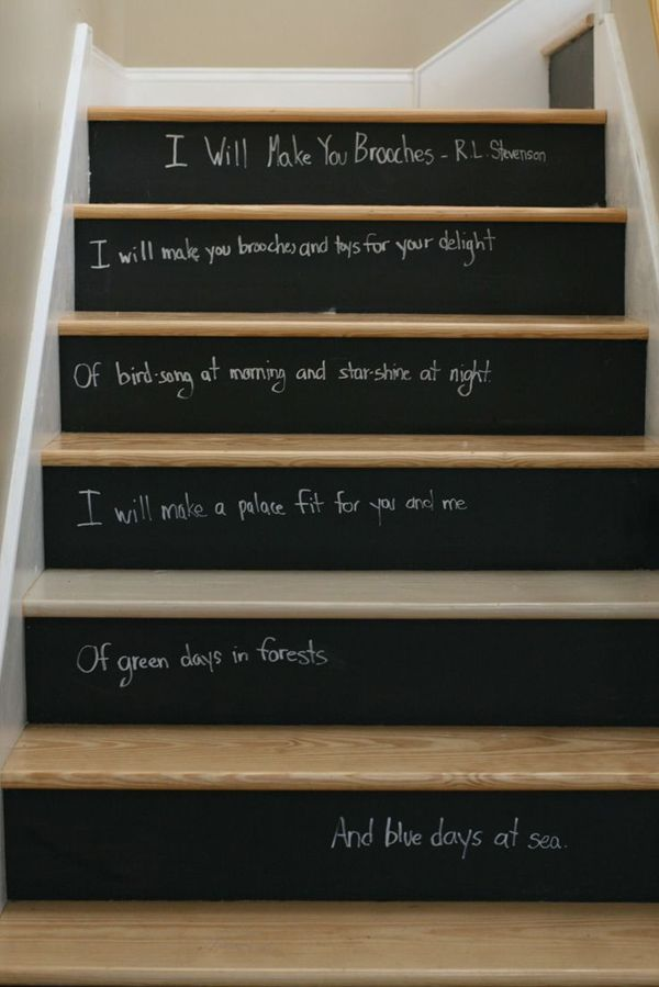 staircase paint design chalkboard stair risers paint your stair risers with chalkboard