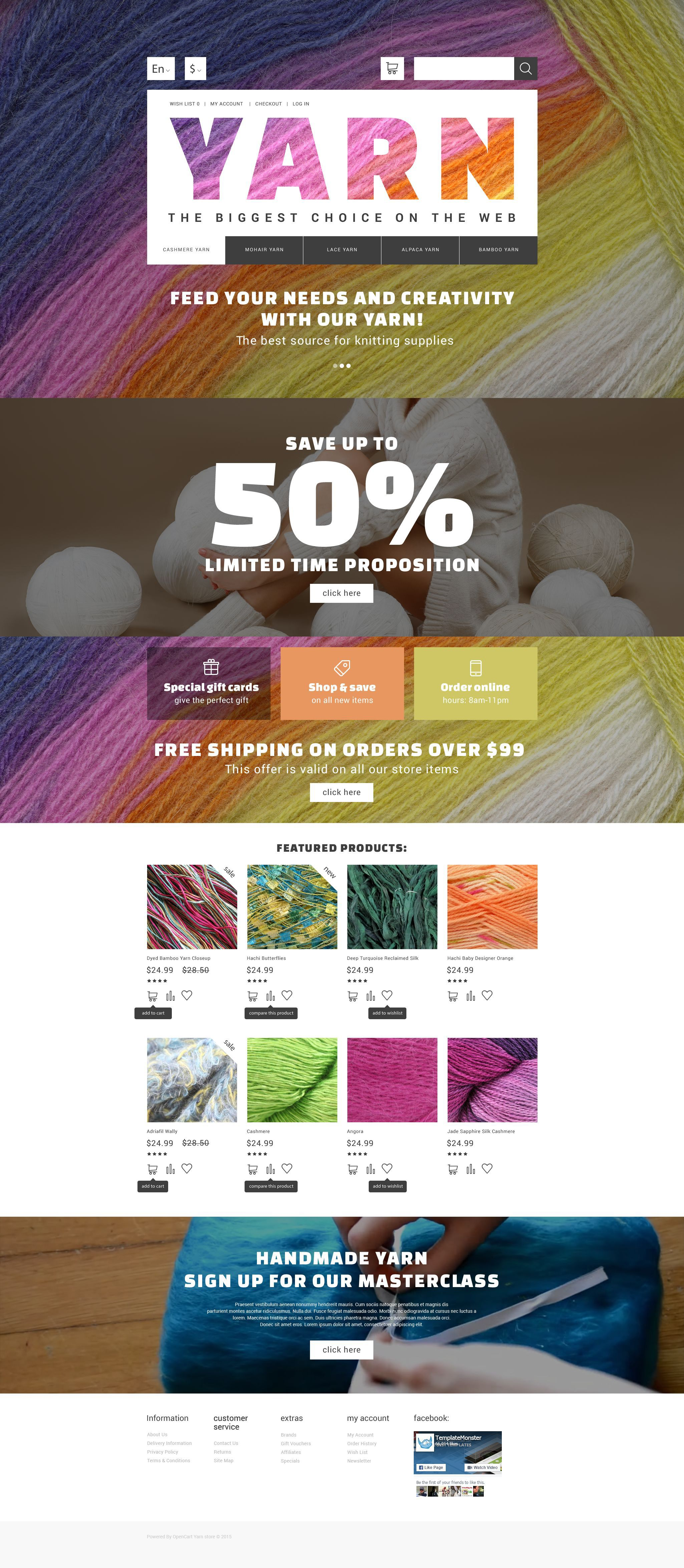 Yarn Online Store OpenCart Template Hobby Shop Template And - Online store privacy policy template