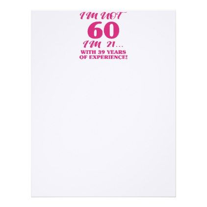 Funny 60th Birthday Letterhead - humor funny fun humour humorous