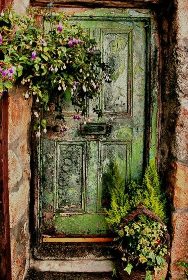 Es idea linfa idea si te sobra una puerta JARDIN \ IDEAS Pinterest
