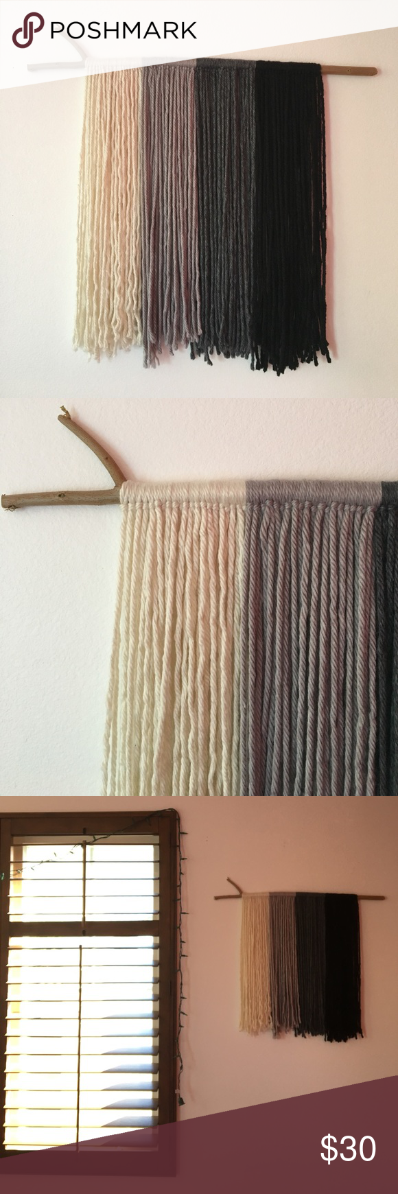 Boho Yarn Wall Art Handmade yarn wall hanging. About 2.5ft W x 2ft L. *Not Free People brand, listed for exposure* Free People Accessories