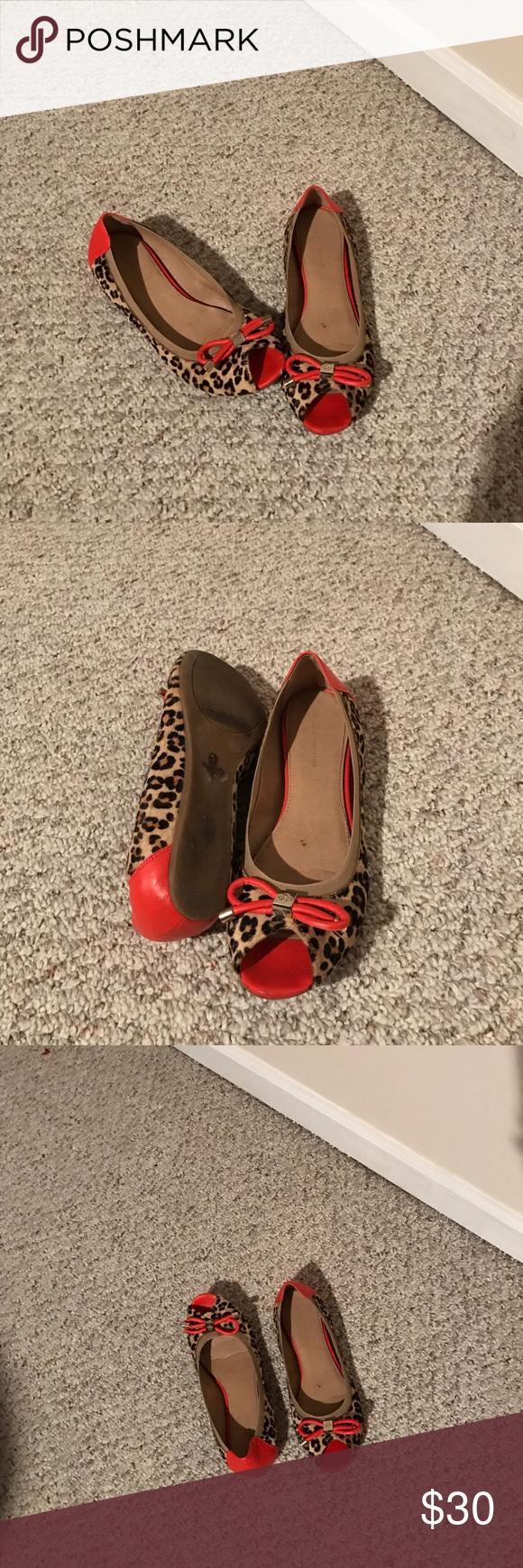 BCBG BCBGeneration Ballet Flats Leopard Print Excellent used condition. BCBG Shoes Flats & Loafers