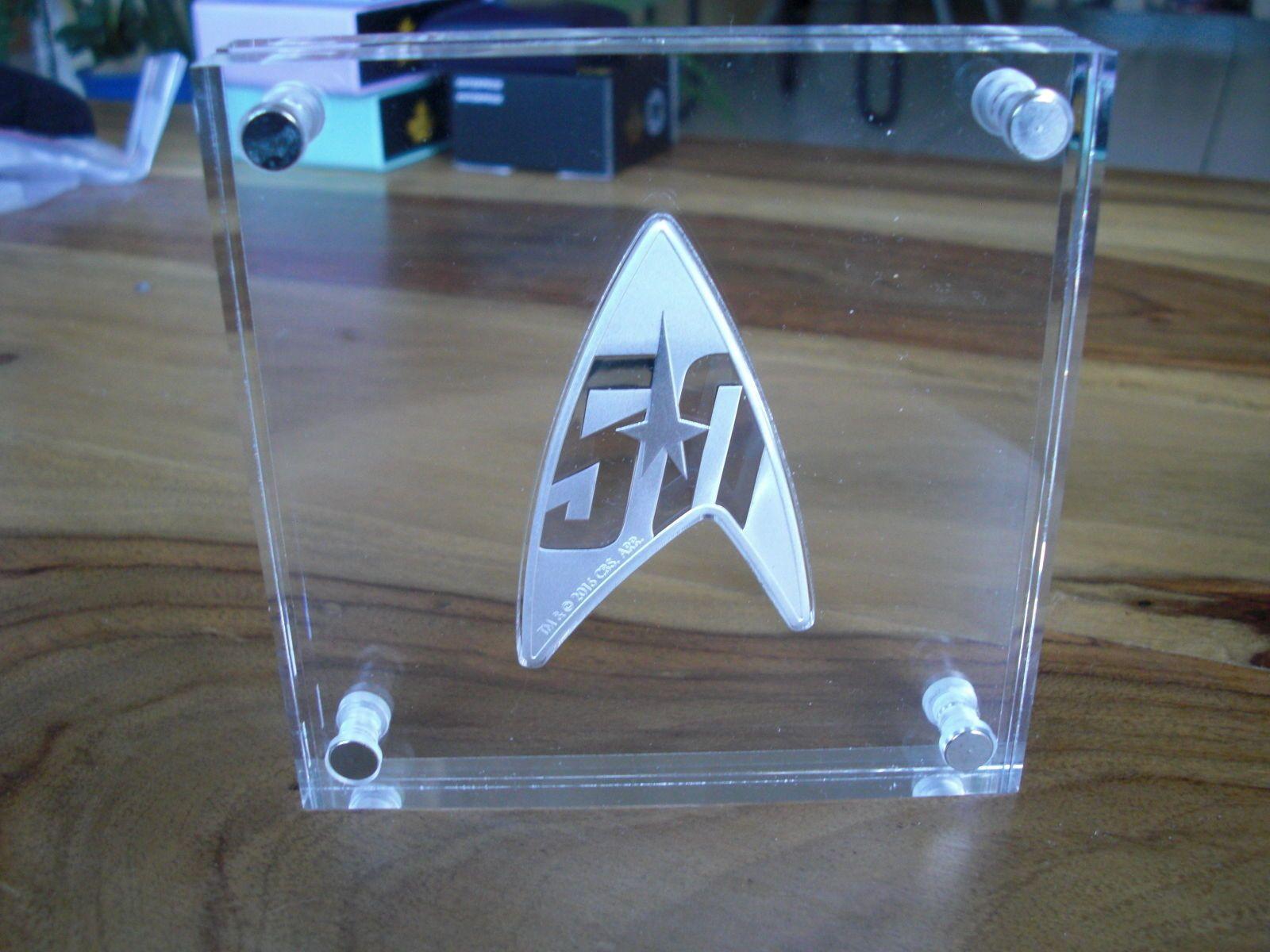50 Jahre Star Trek Enterprise 1 Oz Silber Delta Coin Auflage