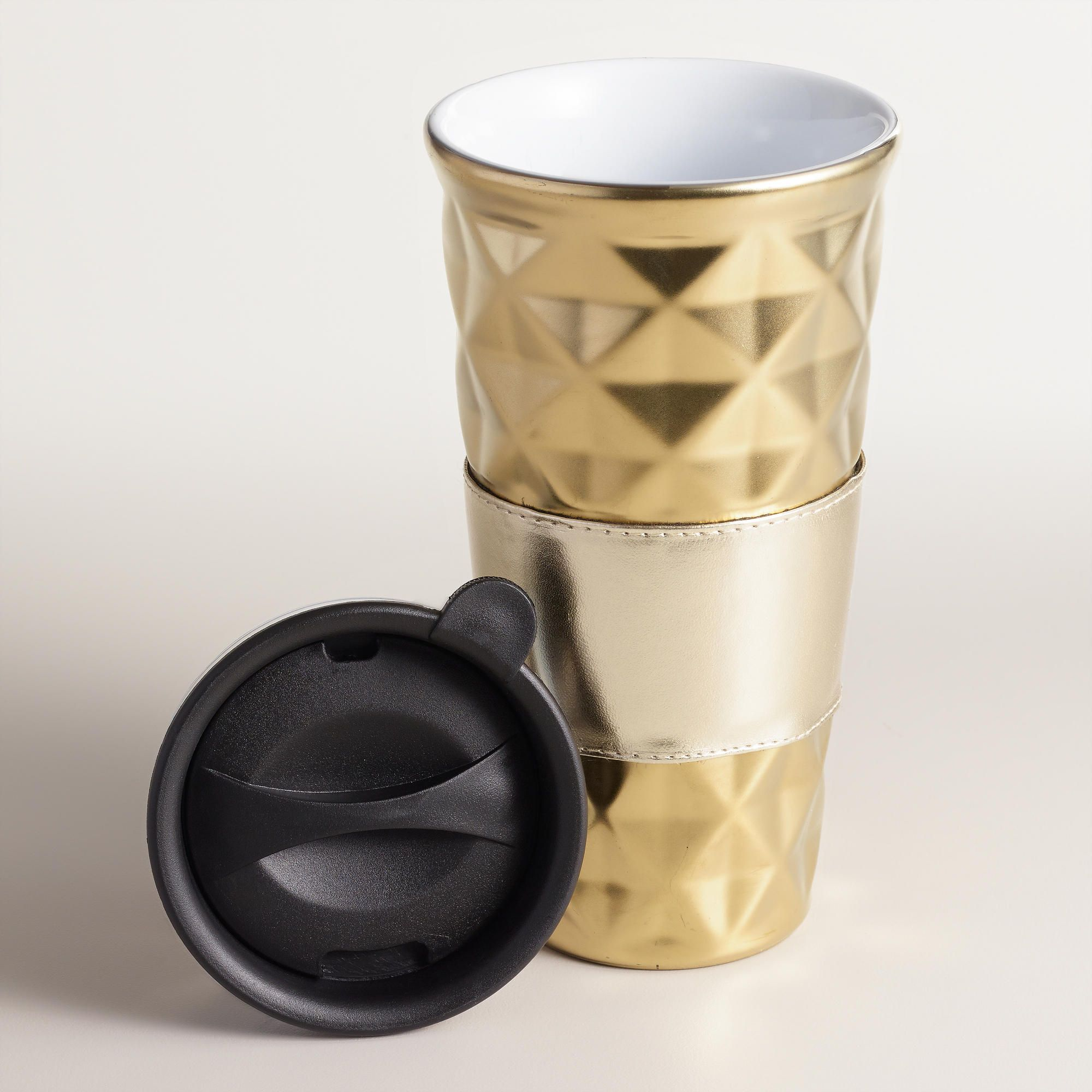 Quilted Porcelain NonPaper Cups, Set of 2 World Market