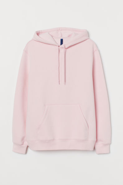 Relaxed Fit Hoodie Light Pink Men H M Gb Black And White Hoodies Light Pink Hoodie Workout Hoodie