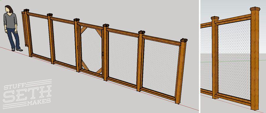 custom-fence-design-google-sketchup-stuff-seth-makes   front yard ...