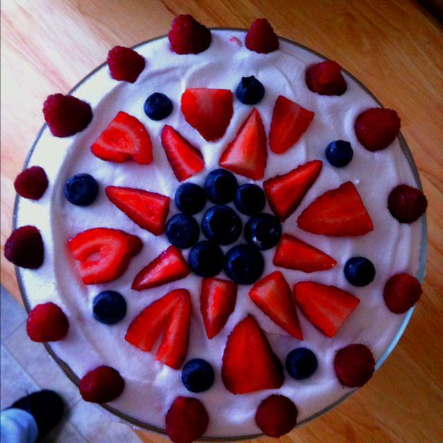 Angle food cake trifle. Pretty :)