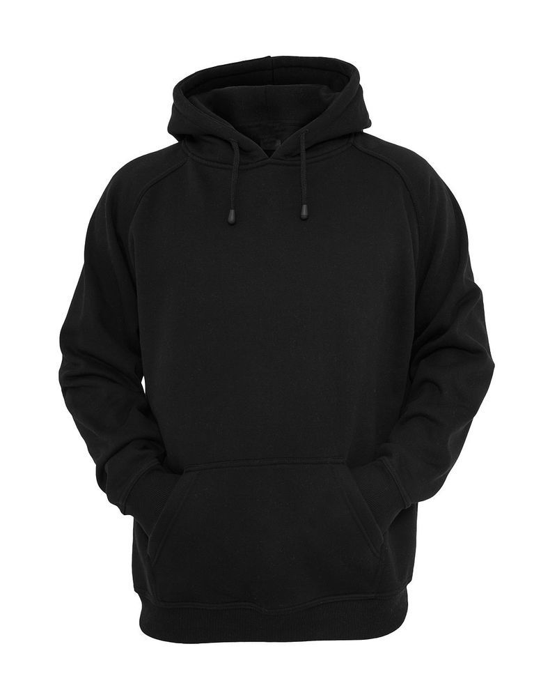 Hooded Plain Black Sweatshirt Men Women Pullover Hoodie Fleece Cotton Blank New | Clothing ...