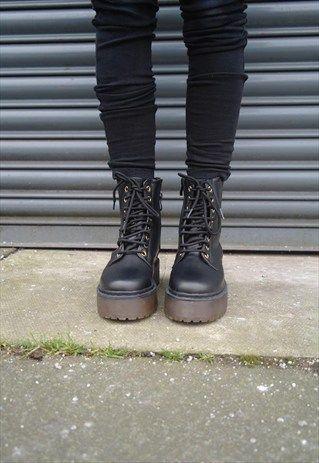 e6077dddc73a Grunge Platform boots More